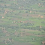Flying into Bagan