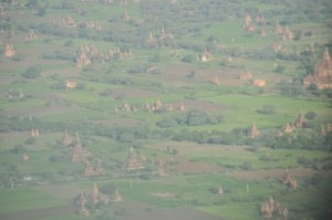 Flying into Bagan