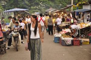 Food markets, Vientianne