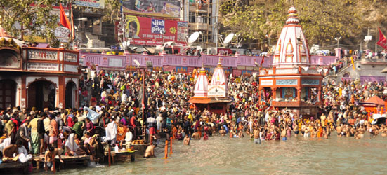 Scenes from the Kumbha Mela in Hardwar on the solar eclipse - the worlds largest gathering..