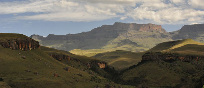 Just a small glimpse of the mystical towering cliffs of Giants Castle, in central Drakensberg...
