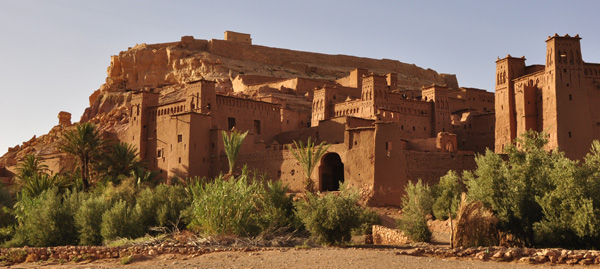 The famous mud kasbah of Ait Benhaddou used as the set for numerous movies such as Gladiator, Babel etc. One of hundreds that dot the oasis like valley floors across the Atlas mountains.