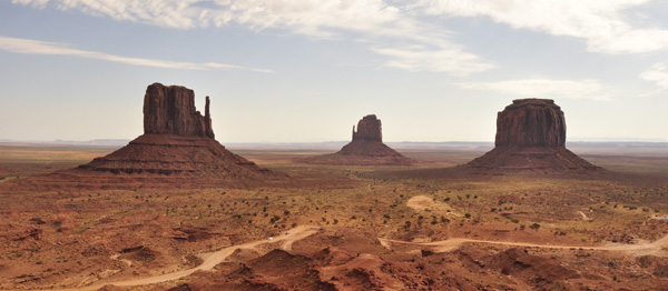 A view of some of the stunning buttes in Monument Valley. In the heart of Navajo nation, shamanically significant to the native american and set of numerous western movies, the place resonates with a powerful 'nature' energy!