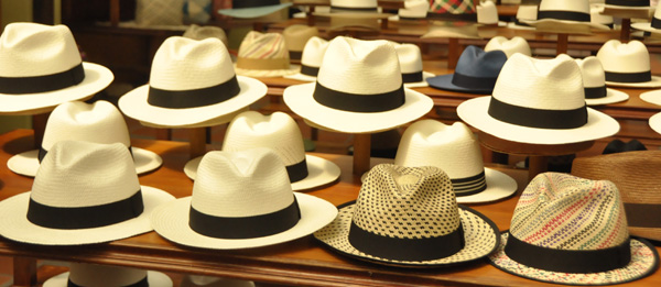 Ecuador is the land of the hat. Everyone has one here, most especially the women. Green, brown or black felt ones with a feather in the side; white felt bowler hats - essential for daily wear to identify your tribe. Then of course there is the Panama hat - Ecuador's most famous export and possibly the most famous hat of all, yet weirdly, irreparably credited to Panama. What do you do?
