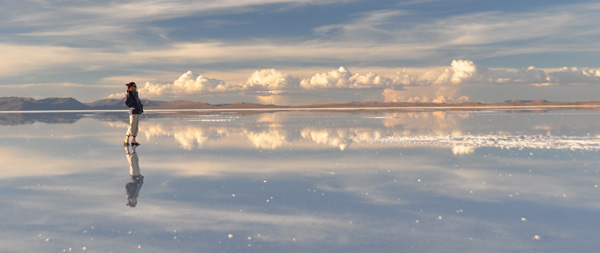Possibly the most photogenic place in all our travels - the salt lake of Uyuni was Number 1 on Megumi's travel wish list.Almost the last place on our journey, we were lucky enough to time the end of the rainy season which coats the salt lake in a few cm of water. A perfect mirror to the horizon in all directions.